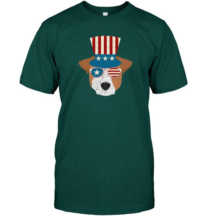 Patriotic Jack Russell T Shirt Dog Owner Gift Men Women