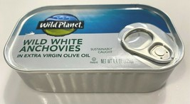1 Can of Wild White Anchovies In Extra Virgin Olive Oil, 4.4 oz (125 g) 2/2024 image 2