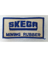 Patch Skega Mining Rubber 1970s Vintage Embroidered Blue White Sew On - $9.99