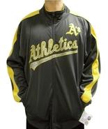 MLB Oakland Athletics Men's Big & Tall Full Zip Tricot Reflective Track ... - $34.95+