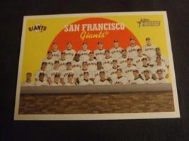 2008 Topps Heritage #69 San Francisco Giants Team Card - $3.12