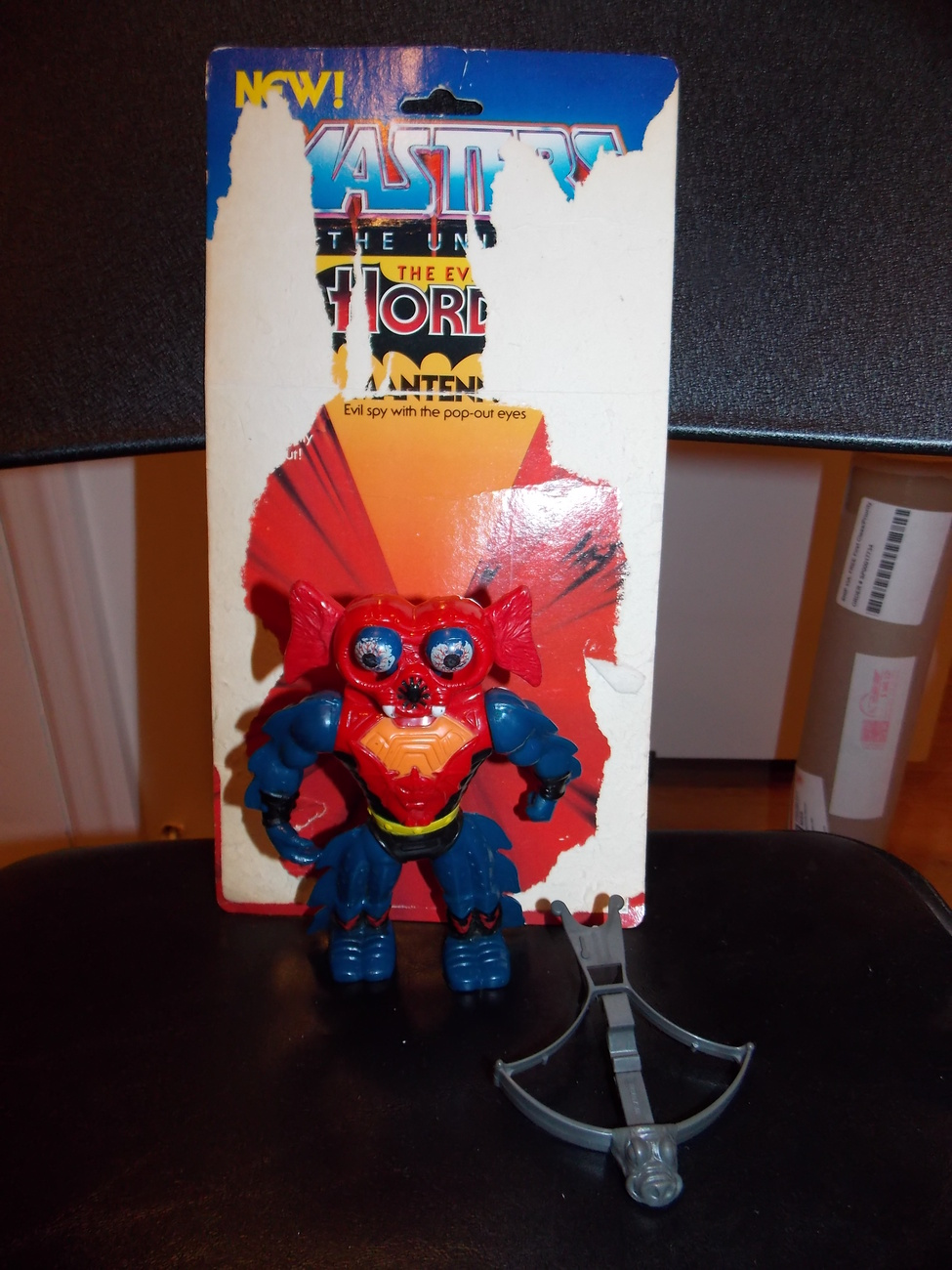 Vintage 1984 Masters Of The Universe Mantenna Figure With Weapon and Cardback