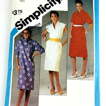 Vintage Sewing Pattern Women Misses Pullover Dress Size 16 Bust 32.5 198... - $9.79