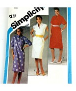Vintage Sewing Pattern Women Misses Pullover Dress Size 16 Bust 32.5 1980s PA303 - $9.79