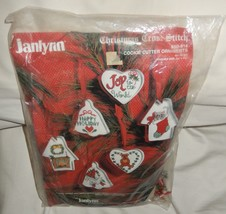 Janlynn Christmas Cookie Cutter Ornaments Cross Stitch Kit 1988 #50-918 - $9.49