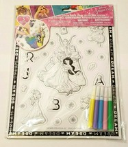 Disney Princes Color Your Own 3D Sticker Poster