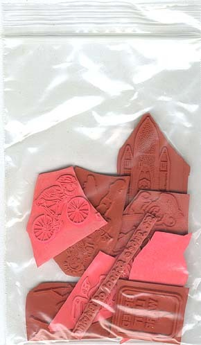 New Assortd Unmounted Rubber Stamp Grab Bag Lot Altered
