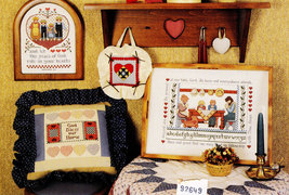 CROSS STITCH PLAIN & FANCY FOLK 2 JEREMIAH JUNCTION SAMPLERS - $5.00