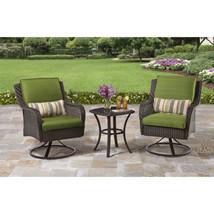 Wicker 5-Piece Patio Garden Bistro Set Furniture Table Swivel Chairs Pil... - €280,71 EUR