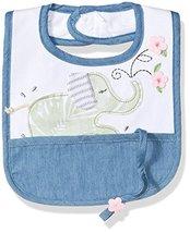 Mud Pie Baby Girls' Bib Applique, Elephant/Pacy, One Size - $14.50