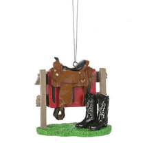 Western Saddle & Boots Ornament - $12.95