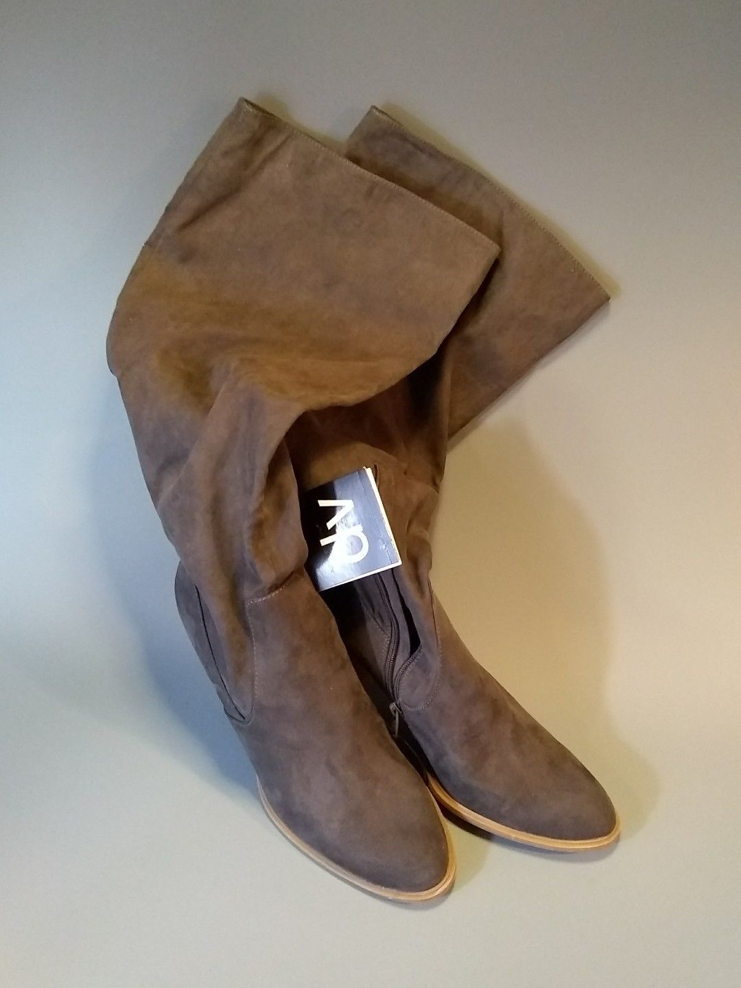 119ac129444f Dolce Vita DV Mala Knee High Braided Suede Pull On Boots Taupe WOMENS SZ 9  GUC -  19.79