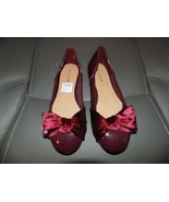 American Eagle Burgundy Loafer Slip On Dress Shoes Size 2.5 Girl's NWD - $19.20