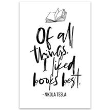 Nikola Tesla Motivational Quote Wall Art Poster - $22.28