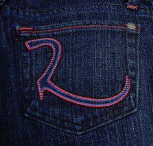 Rock & Republic Kiedis Tyrant Pink Blue Jeans 26 USA 001260 Womens - $39.51