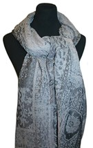 Le Luxe Women's Scarf, Oblong Shawl, Large Wrap (Gray) - €20,96 EUR