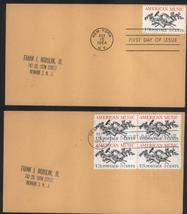 American Music first day covers Oct 15, 1964 single & block of 4 - $2.99