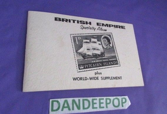 Vintage British Empire Specialty Stamp Album Plus World-Wide Supplement