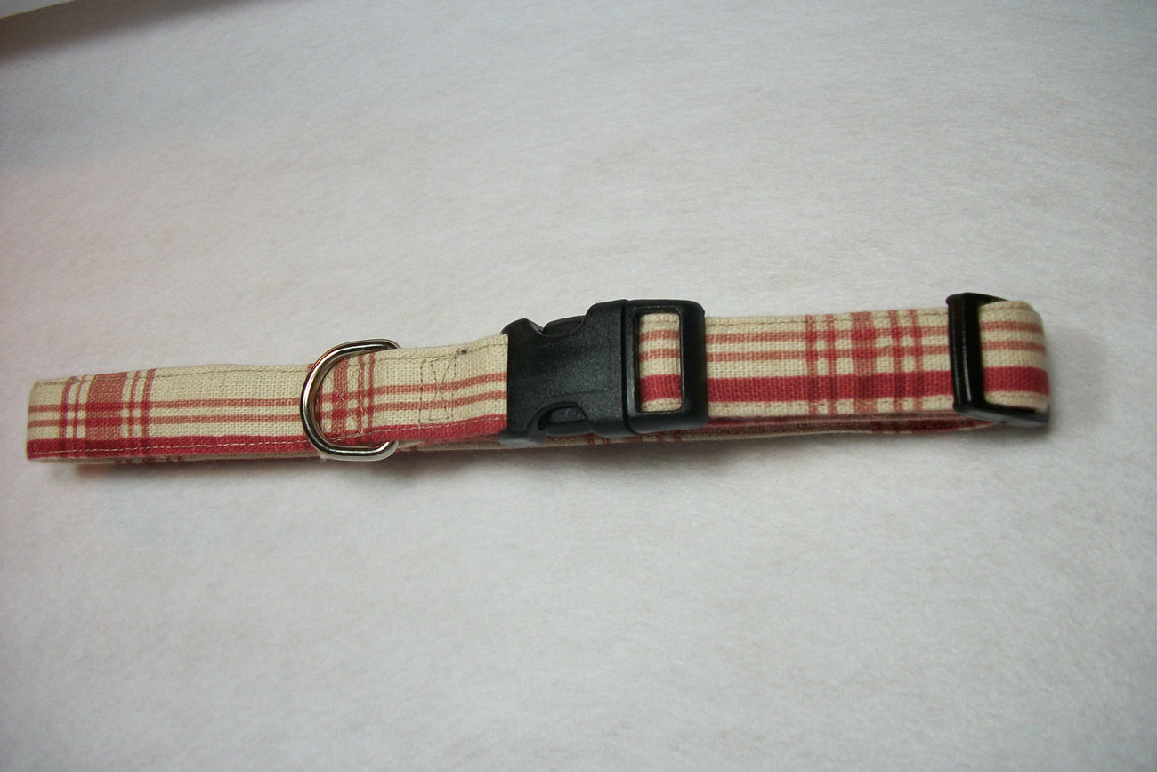 Adjustable Dog Collar Burgundy  - $15.00