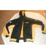 pittsburg steelers nfl apparel mens zippered jacket with hood size lg - $9.94