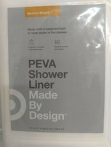 "Rust Resistant 6 Gauge Peva Shower Liner  WHITE  -71""x71""  Made By Design - NWT image 2"