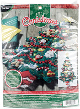 "Bucilla Felt Wall Hanging Applique Kit 15""X30""-Merry & Bright - $42.72"