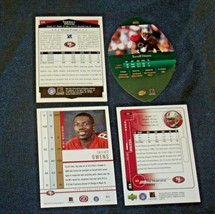 San Francisco 49er's Terrell Owens #81 WR Football Trading Cards AA-191804 Vinta image 2