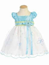 Gorgeous Boutique Blue Green Embroidered Flower Girl Party Dress Lito USA - $58.79+