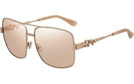 NEW Jimmy Choo Tonia/S BKU 2S Sunglasses Gold Frame Light Pink Lenses 53mm - $185.75