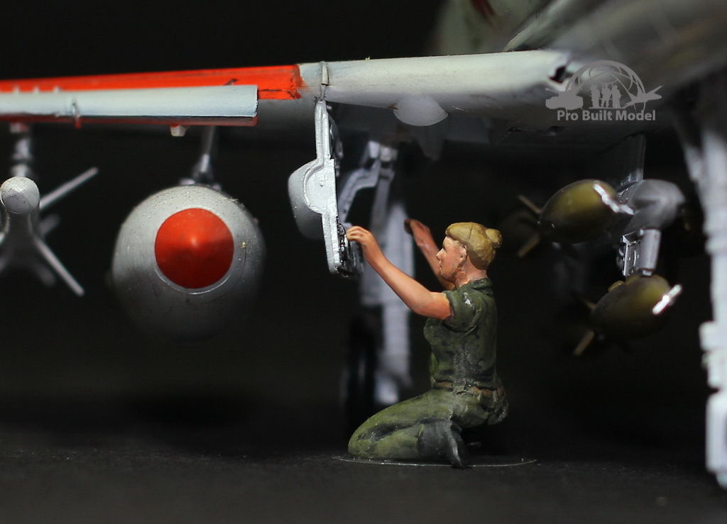 USAF Ground Crew Support in Airfield 1:48 Pro Built Model #2 for sale  USA