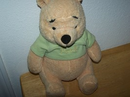 "Disney 10"" Sitting Plush Stuffed WINNIE THE POOH Bear - $14.99"