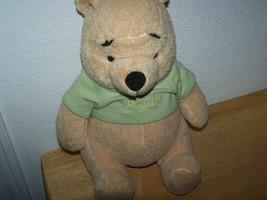 "Disney 10"" Sitting Plush Stuffed WINNIE THE POOH Bear - $14.99"