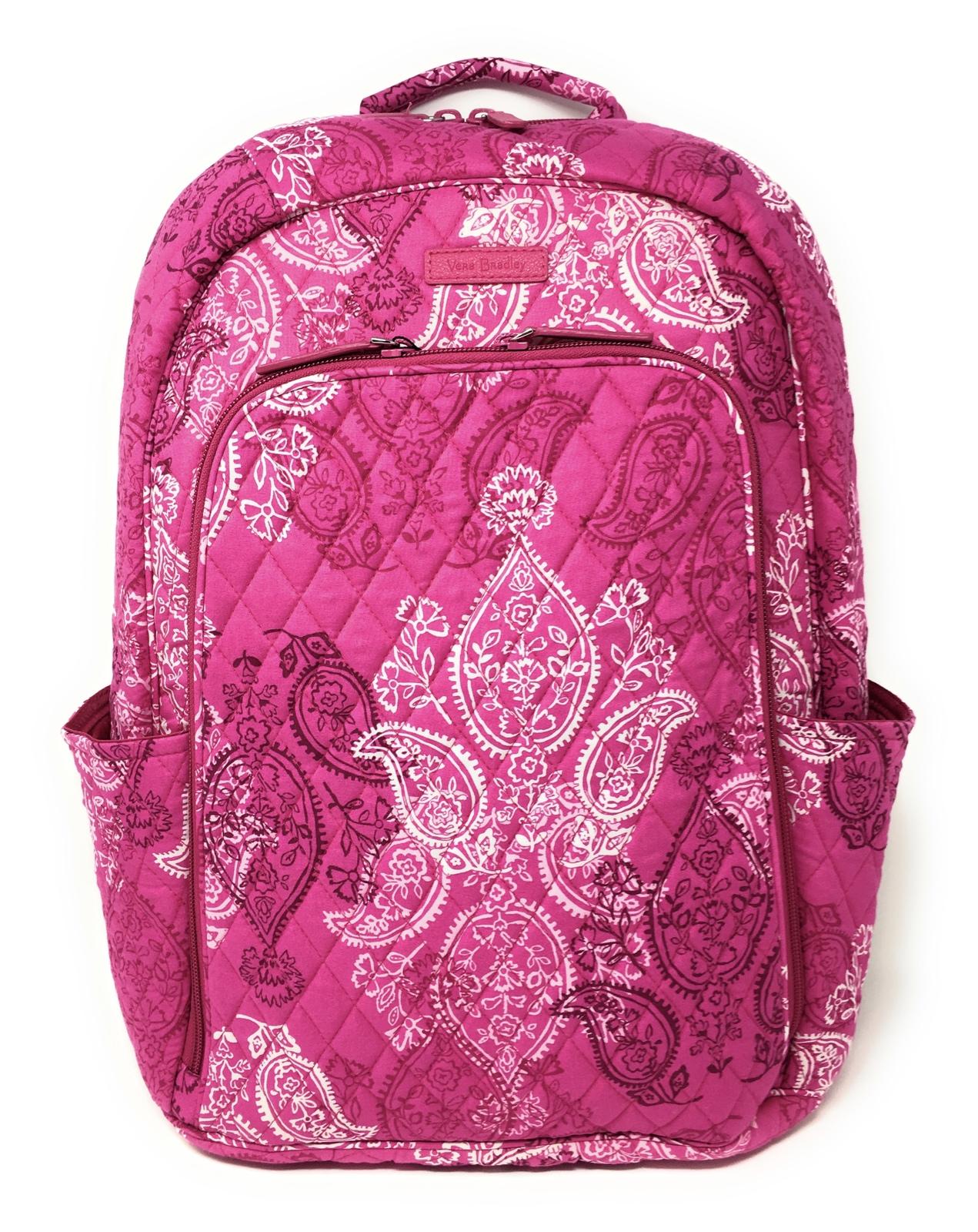 Vera Bradley Laptop Backpack - Stamped Paisley - NWT - $108 MSRP!