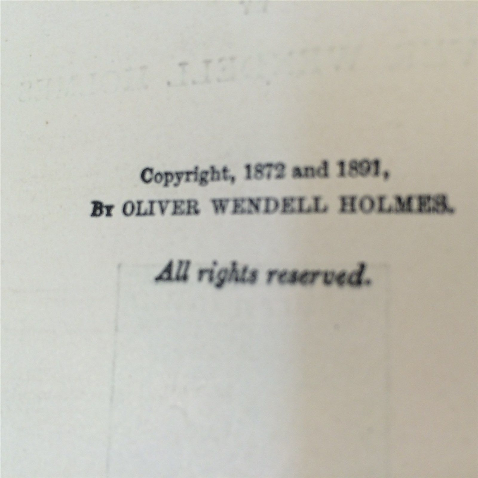 The Poet at the Breakfast Table by Oliver Wendell Holmes - 1898 HC