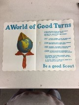 Boy Scouts America BSA vintage 1960s placemat world of good turns be goo... - $19.99