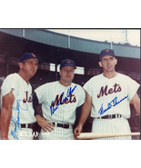 1962 NEW YORK METS Autograph Photo. Nicely signed by Ashburn, Thomas,Thr... - $197.01