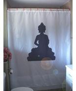 Shower Curtain Buddha statue silhouette nirvana holy - $64.99