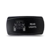 Rocker Switch Jeep Wrangler JK Rear Lights Symbol - Horizontal - White LED - $16.44