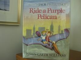 1986 RIDE A PURPLE PELICAN Author Signed GARTH WILLIAMS Illustrator HC/D... - $14.99