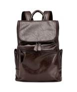 BDF Stylist Men Vintage Patent Leather Backpack Western style Travel Lap... - $58.31