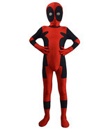 Deadpool Cosplay Costumes Kids Full bodysuit Halloween Costume Lycra Spa... - $50.14 CAD+