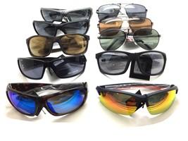 Harley Davidson Gafas de Sol Lote Metal Plástico Deportes Escudo Aviador - $349.22