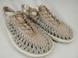 Keen Uneek Leather Women's Sport Sandals Size US 7 M (B) EU 37.5 Gray / White