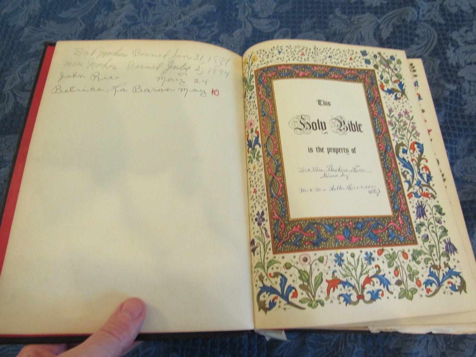 Holy Bible - KJV - Rembrandt Edition Rice Family Gilt Edged