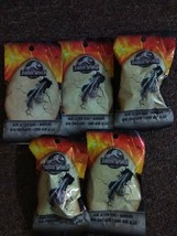 LOT OF 5 JURASSIC WORLD FALLEN KINGDOM MINI ACTION DINO BLIND BAGS! NEW! - $14.85