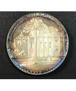 1960'S California Mission SAN GABRIEL ARCANGEL Pure Silver Medal Medalli... - $98.01