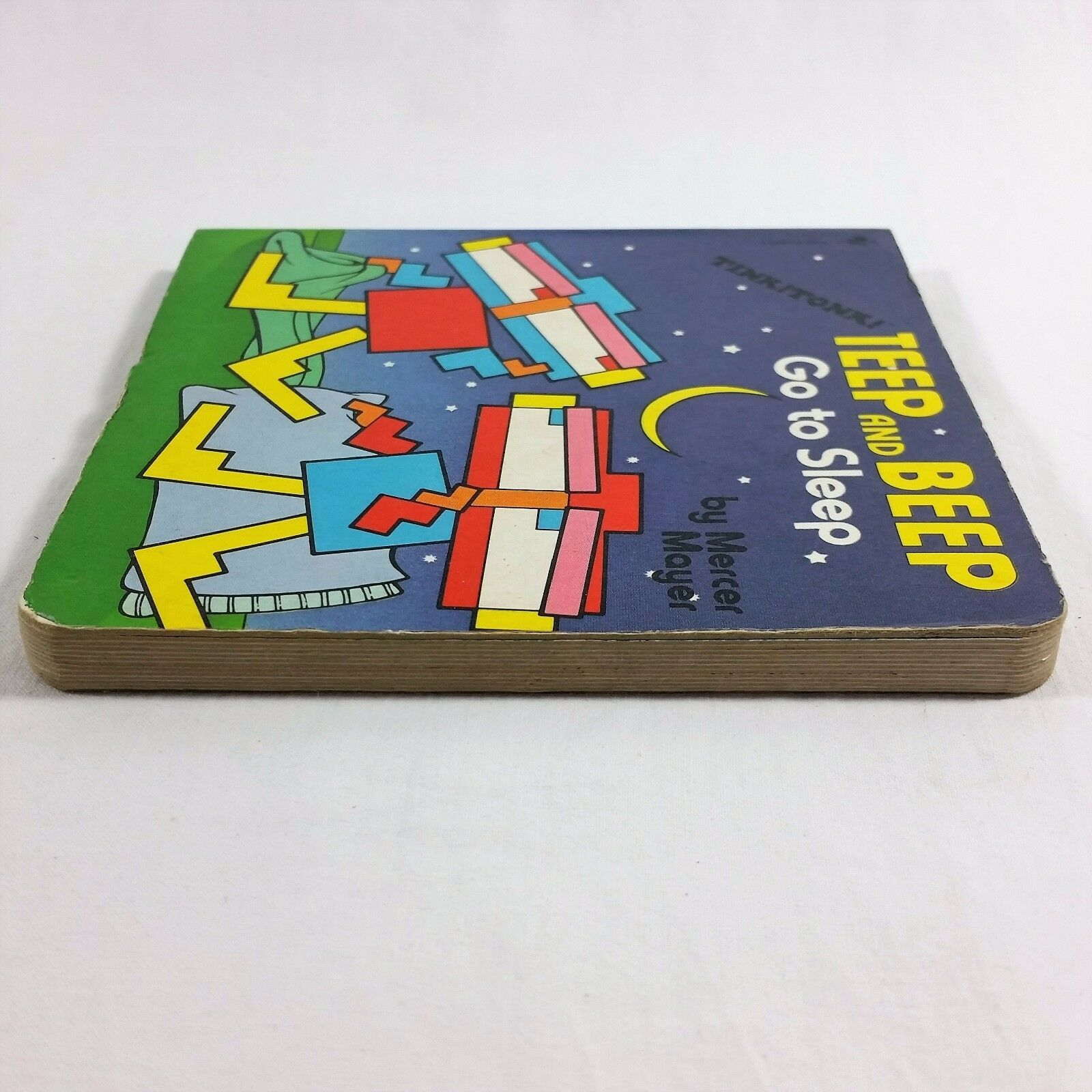 Teep And Beep Go To Sleep By Mercer Mayer 1984 Tink Tonk Board Book Japan VTG