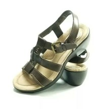 Earth Shoe Wedge Sandals Women's Sz 7 Med Brown Leather (tu4ep) - $23.00