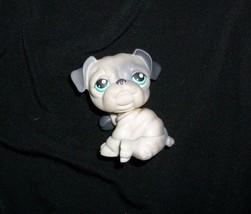 446 LITTLEST PET SHOP ENGLISH BULLDOG GRAY PUPPY DOG TEAL EYES LPS 2007 ... - $14.03