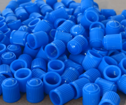 25 pack Universal Schrader Plastic Blue Valve Stem Caps